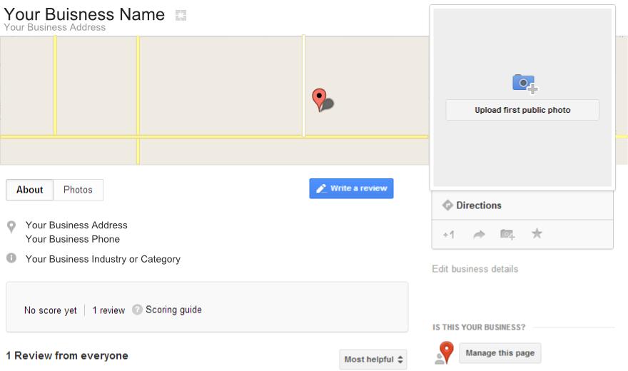 Claim your Business Google Plus Places Page